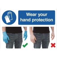 Wear Gloves Do & Don't Visual Signs