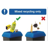 Mixed Recycling Do & Don't Visual Signs