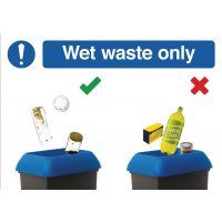 Wet Waste Recycling Do & Don't Visual Signs