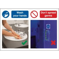 Wash Your Hands Don't Spread Germs Do & Don't Visual Signs