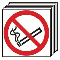 6-Pack No Smoking Symbol Only Signs