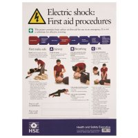 HSE First Aid For Electric Shock Poster