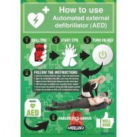 How To Use An AED Poster