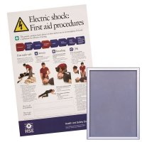 Snap Frame & HSE First Aid For Electric Shock Poster Bundle