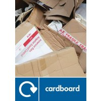Cardboard - WRAP Paper Waste Recycling Pictorial Signs