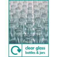 Clear Glass Bottles & Jars WRAP Glass Recycling Pictorial Signs