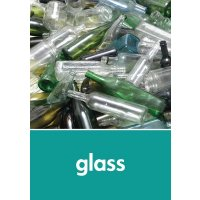 Glass - WRAP Glass Waste Recycling Pictorial Signs