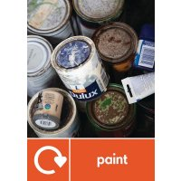 Paint - WRAP Paint Waste Recycling Pictorial Signs