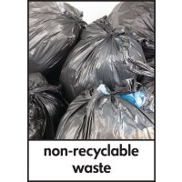 Non Recyclable Waste - WRAP Waste Recycling Pictorial Signs