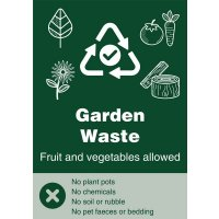 Garden Waste - WRAP Yes/No Recycling Symbol Sign