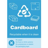 Cardboard - WRAP Yes/No Recycling Symbol Sign