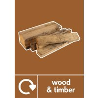 Wood & Timber - WRAP Photographic Recycling Signs