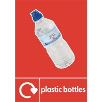 Plastic Bottles - WRAP Photographic Recycling Signs