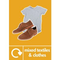 Mixed Textiles & Clothes - WRAP Photographic Recycling Signs