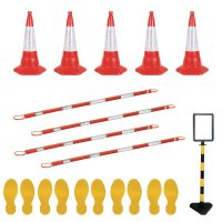 Social Distancing - Cone Barrier & Floor Marking Kit