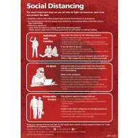 Social Distancing - The Most Important Step We Can All Take Sign (Red)