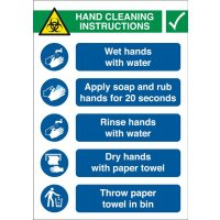 Site Safety - How To Wash Your Hands Sign