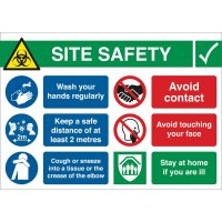 COVID-19 - Site Safety Information Sign
