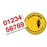 Social Distancing - Female Toilets Floor Sign Kit