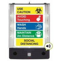 Seton Talking Safety Sign Alerter- Social Distancing Sign