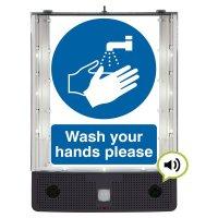 Seton Talking Safety Sign Alerter - Wash Hands Sign