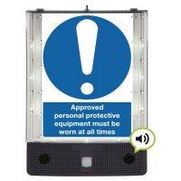 Seton Talking Safety Sign Alerter - Approved PPE Sign
