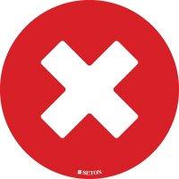 Social Distancing - Do Not Sit Here (Cross) Floor Sign