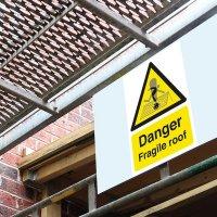 Seton Motion - Danger Fragile Roof Sign