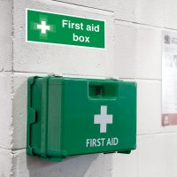Seton Motion - First Aid Box Sign