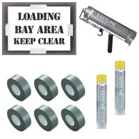 Loading Bay Area Keep Clear Stencil Kit