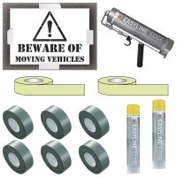 Indoor Beware Moving Vehicles Stencil Kit