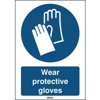ToughWash - Wear Protective Gloves Sign