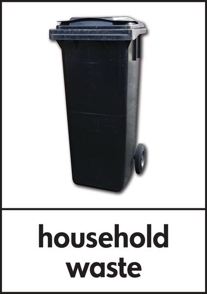 Household Waste - WRAP Recycling Pictorial Signs