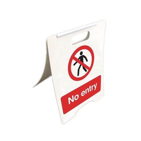No Entry - Temporary Floor Sign