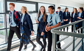 Children in uniform at a school