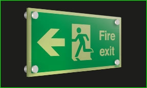 Double Sided Photoluminescent Signs Signs