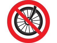 No cycles, rollerblades, skateboards or scooters