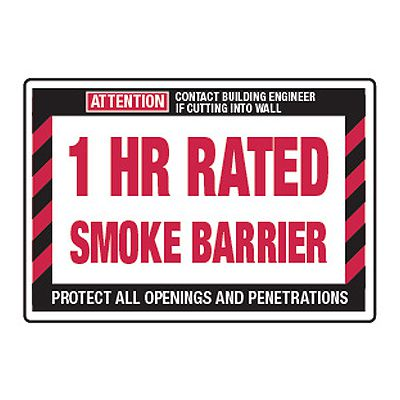 Fire Wall Rating Signs