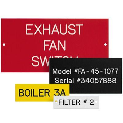 Custom Plastic Equipment Nameplates