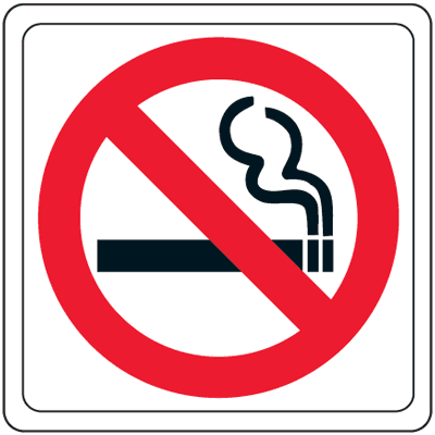 No Smoking Symbol Signs