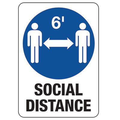 Social Distance Signs & Posters