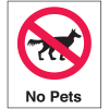 Polished Plastic Office Signs - No Pets