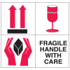 Fragile Handle With Care Combination Shipping Labels