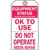 2-Part Production Status Tags - Equipment Status