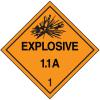 DOT Explosive 1.1A Hazard Class 1 Material Shipping Labels