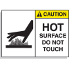 Hot Surface Equipment Warning Labels - Caution Hot Surface