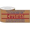 Printed Kraft Reinforced Tape - Caution