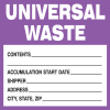 Hazwaste & Drum Labels-On-A-Roll - Universal Waste