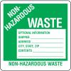 Hazwaste & Drum Labels-On-A-Roll - Non-Hazardous Waste