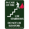 Optima Elevator and Stairwell Evacuation Signs - In Case of Fire
